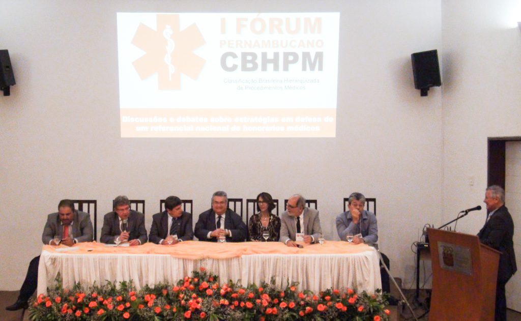 I Fórum Pernambucano sobre CBHPM. Foto: Natália Gadelha